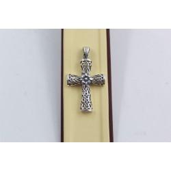 Дамски сребърен медальон кръст тъмно сребро 3914
