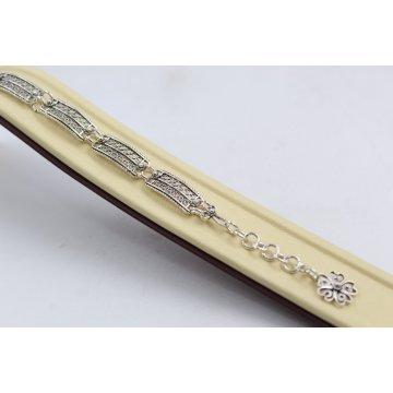 Дамска сребърна гривна Филигран 1 тъмно сребро 3918