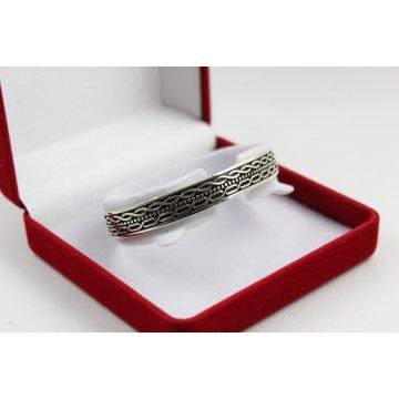 Дамска сребърна твърда отворена гривна 3933