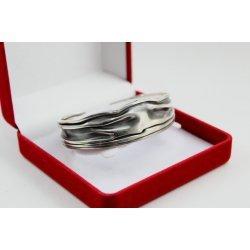 Дамска сребърна твърда отворена гривна 3934