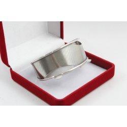 Дамска сребърна твърда гривна елипса 3957