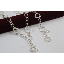 Дамски сребърен комплект Мирела Любов бели камъни 3958