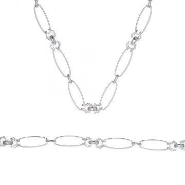 Дамски сребърен комплект колие гривна 3958