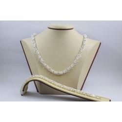 Дамски сребърен ажурен комплект Олимпия 1 колие гривна 3964