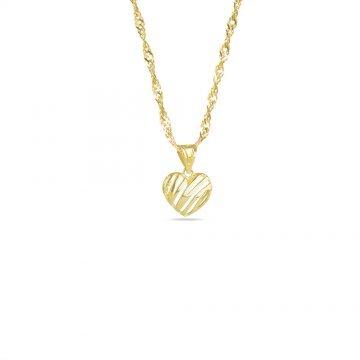 Златно колие със сърце жълто злато 3983
