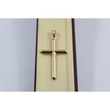 Златен дамски медальон кръст жълто злато 4064