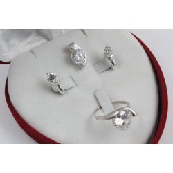 Дамски сребърен комплект Кристалин 4093