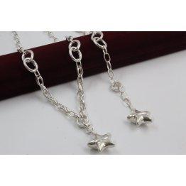 Дамски сребърен комплект Милена Звезда колие гривна 4094