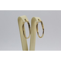 Дамски златни обеци усукани халки жълто злато 4101