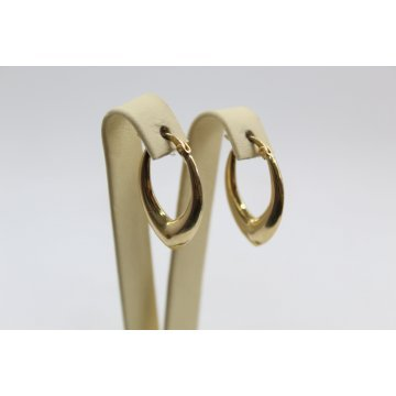 Дамски златни висящи обеци жълто злато 4101