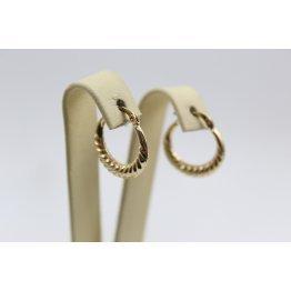 Дамски златни обеци халки жълто злато 4103