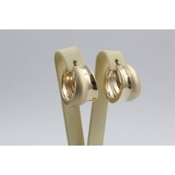 Дамски златни обеци по ухото жълто злато 4106