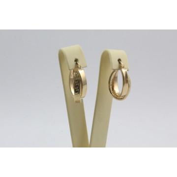 Дамски златни обеци халки жълто злато 4108