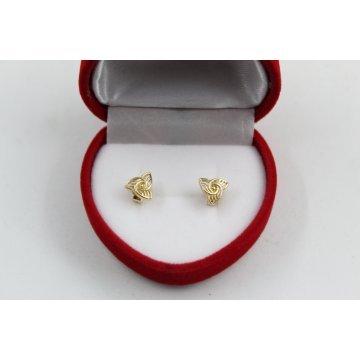 Дамски златни обеци жълто злато 4108