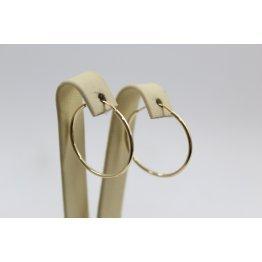 Дамски златни обеци халки жълто злато 4109