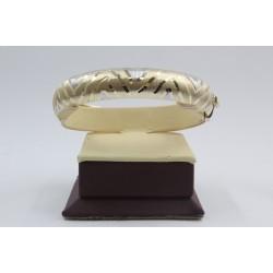 Златна женска твърда гривна бяло и жълто злато 4120