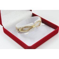 Златна дамска твърда гривна жълто злато 4122