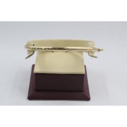 Златна женска твърда гривна жълто злато 4123