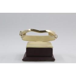 Златна женска твърда гривна жълто злато 4126