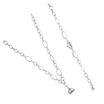 Дамски сребърен комплект Корона колие гривна 4134