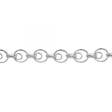 Дамска сребърна гривна Туистър 4139