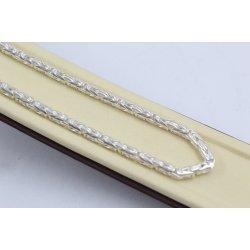 Сребърна верижка кралска плетка 4168