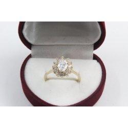 Дамски златен годежен пръстен 4172