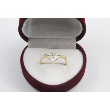 Дамски златен годежен пръстен 4176