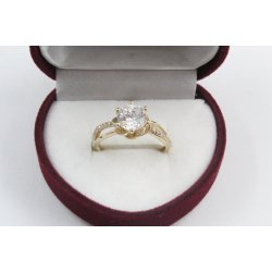 Дамски златен годежен пръстен Еделвайс жълто злато 4180