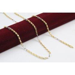 Златен унисекс комплект верижка гривна бяло жълто злато 4188