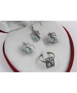 Дамски сребърен комплект Лунна Нощ 4221