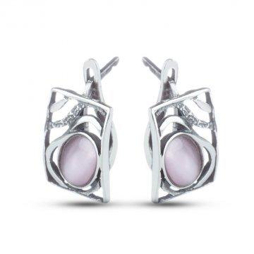 Дамски сребърни обеци Лунна Нощ 4222