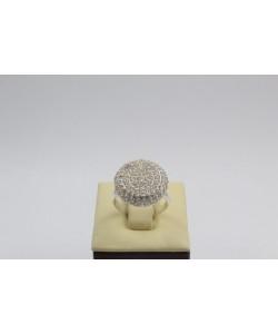 Дамски сребърен пръстен с бели камъни Слънце 4232