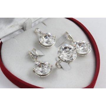 Сребърен комплект със Swarovski Elements Crystal 536