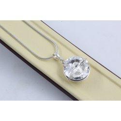 Сребърно колие със Swarovski Elements Crystal 4242