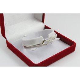 Дамска сребърна твърда гривна с безкрайност 4247