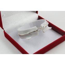 Дамска сребърна твърда гривна с безкрайност 4248