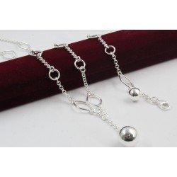 Дамски сребърен комплект Милена Класик колие и гривна 4253