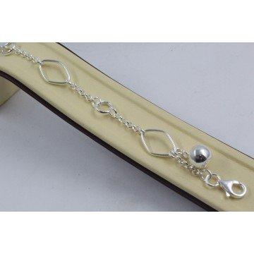 Дамска сребърна гривна Милена Класик 4255