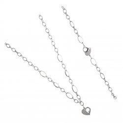 Дамски сребърен комплект Сърце колие гривна 4263