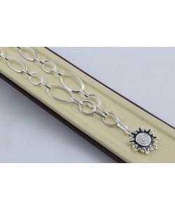 Дамско сребърно колие Черното Слънце 4266