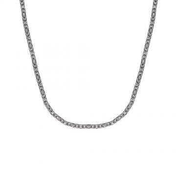Сребърен ланец тип кралска плетка 3210