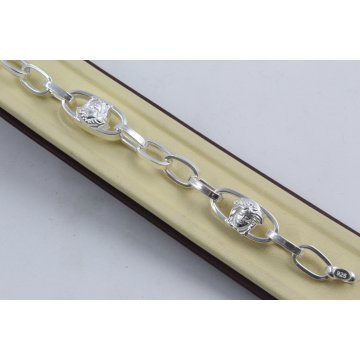 Дамска сребърна гривна Горгона Медуза 4275