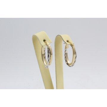 Дамски златни обеци халки бяло жълто злато 4276