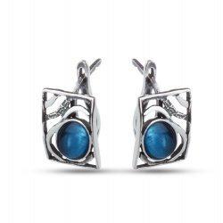 Дамски сребърни обеци Лунна Нощ тъмно сребро 4506