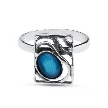 Сребърен пръстен Лунна Нощ тъмно сребро 2248