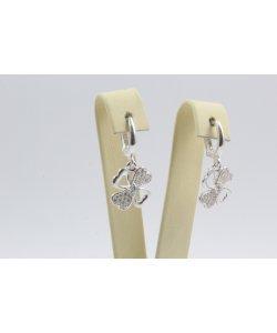 Дамски сребърни обеци Четирилистни Детелини 4293
