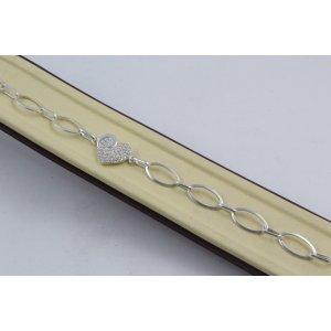 Дамска сребърна гривна Сърце 4294