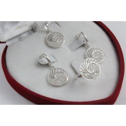 Дамски сребърен комплект с бели циркони Шейла 2229