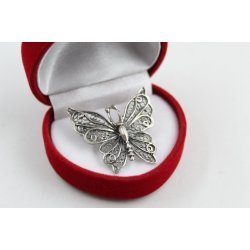 Сребърна брошка Пеперуда 4348